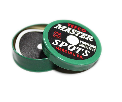 Tefco Master Billiard Table Spots, Tin of 12