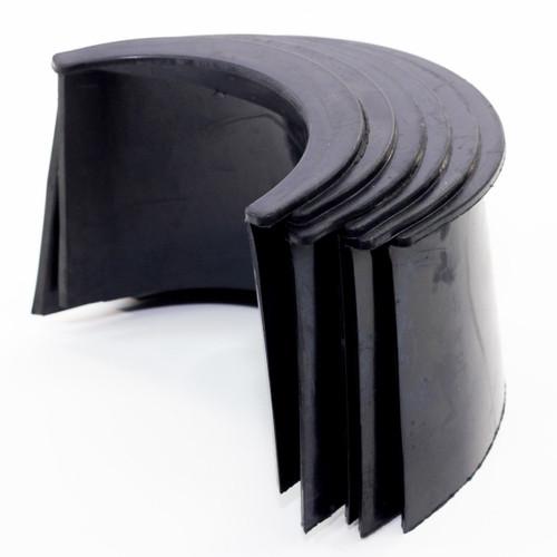 Imperial 4-Inch Black Plastic Pocket Liner, Set of 6
