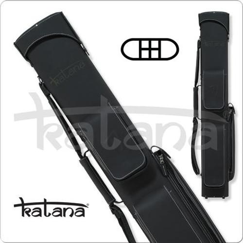 Katana KATC03 2x4 Charcoal Leather Hard Cue Case