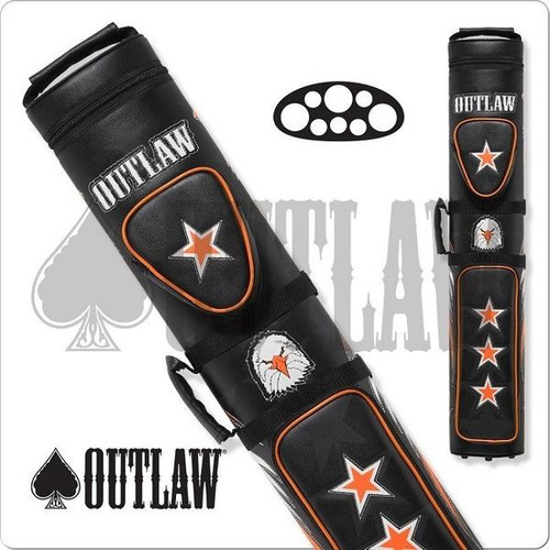 Outlaw OLB35C Stitch Eagle 3x5 Hard Cue Case