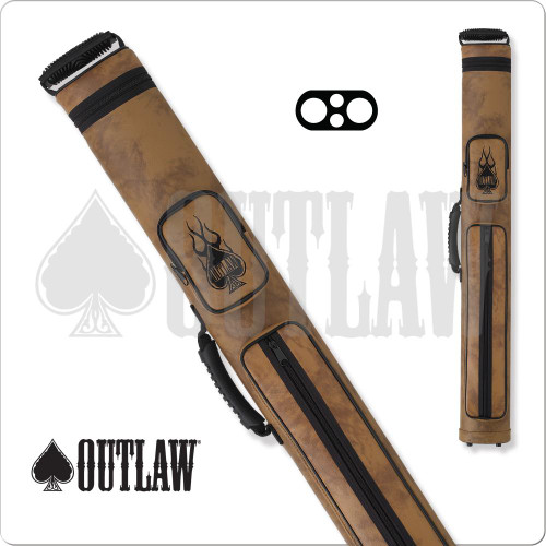 Outlaw OLH22 Flames 2x2 Hard Cue Case