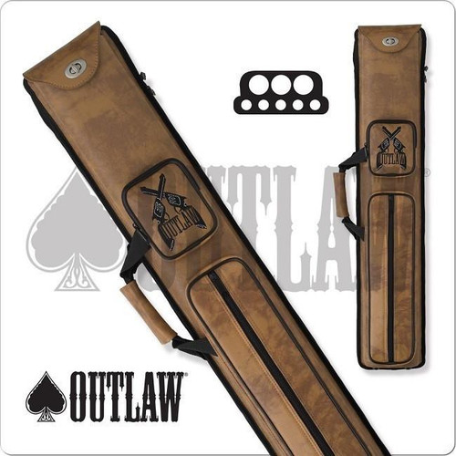 Outlaw OLH35 Guns 3x5 Hard Cue Case