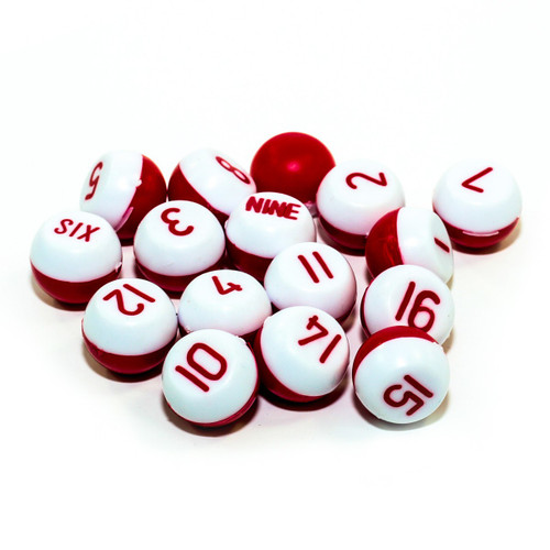 Red/White Tally Pill Balls
