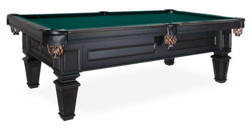 Olhausen Brentwood Pool Table Mattle Black Laquer on Maple