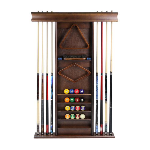 Imperial Deluxe Wall Cue Rack Antique Walnut