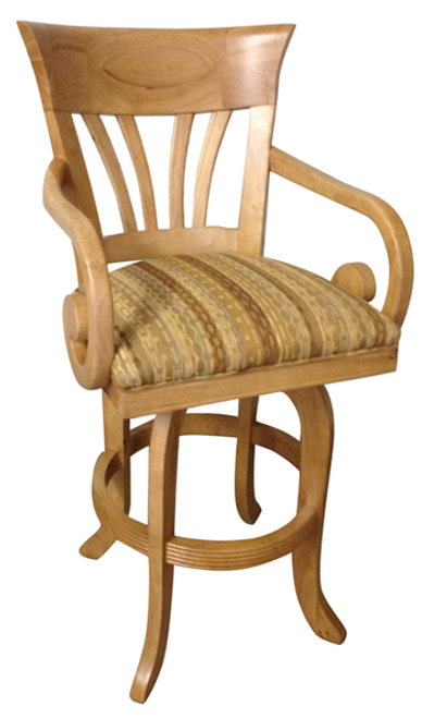 Tobias Wave with Arms Stool