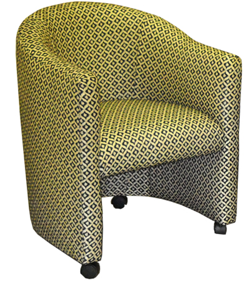 Tobias Club Caster Chair