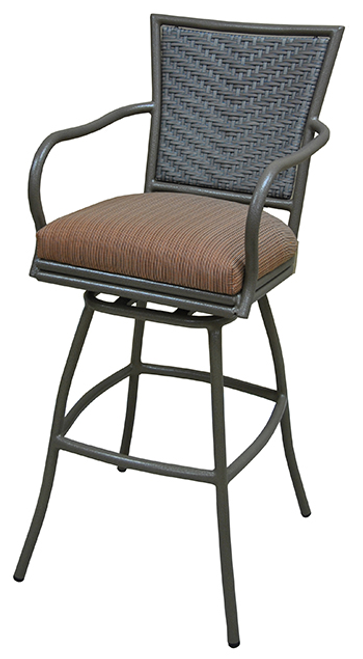 Tobias Erin with Arms Outdoor Stool