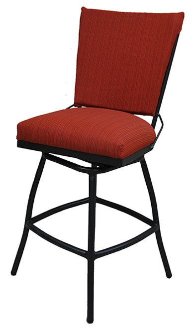 Tobias Jenna Upholstered Back Outdoor Stool