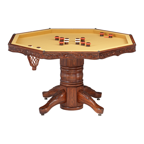 Darafeev Chateau Poker Dining Game Table with Bumper Pool