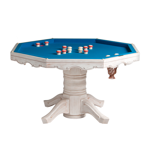 Darafeev Classic Poker Dining Game Table with Bumper Pool