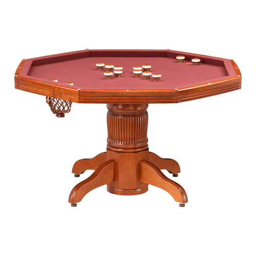 Darafeev Corsica Poker Dining Game Table with Bumper Pool