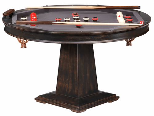 Darafeev Dynasty Poker Dining Game Table with Bumper Pool
