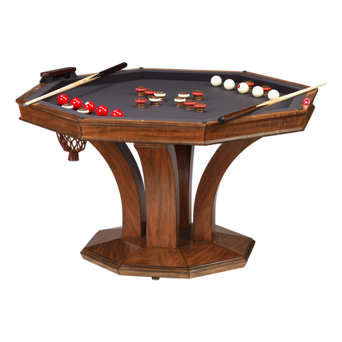 Darafeev Treviso Octagonal Poker Dining Game Table with Bumper Pool