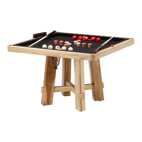 Darafeev El Dorado Poker Dining Game Table with Bumper Pool