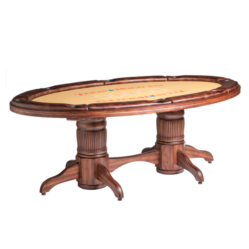 Darafeev Texas Hold'Em Table w/ Optional 2-Piece Dining Top