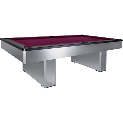 Olhausen Monarch Brushed Aluminum Pool Table