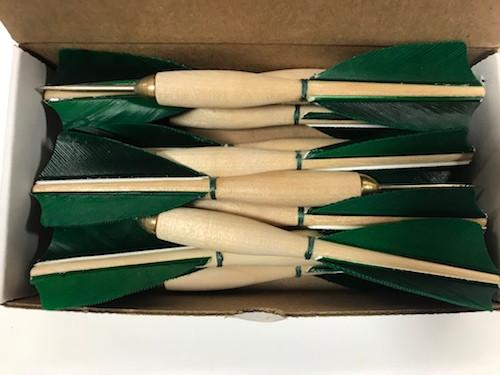 APD No.1 Official Tournament Darts Green Feather (Dozen)