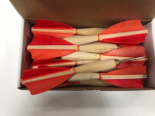 APD No.1 Official Tournament Darts Orange Feather (Dozen)