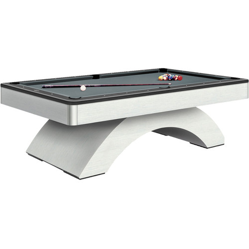 Olhausen Waterfall Brushed Aluminum Pool Table