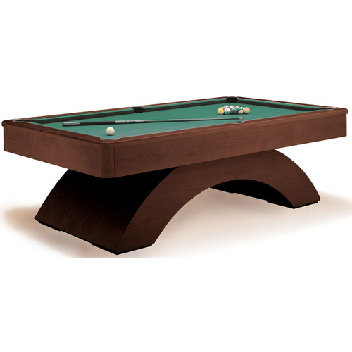 Olhausen Waterfall Pool Table Traditional Mahogany on Maple