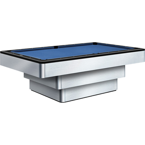 Olhausen Maxim Brushed Aluminum Pool Table