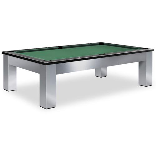Olhausen Madison Brushed Aluminum Pool Table