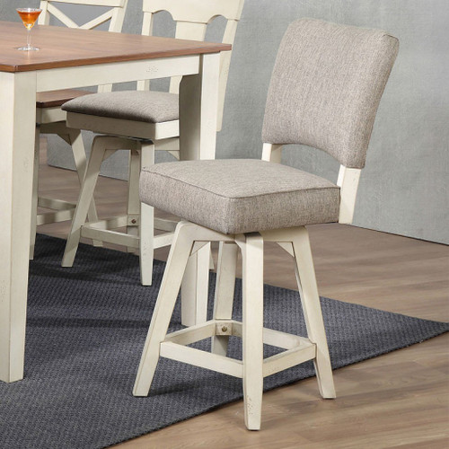 """ECI Choices 30"""" Upholstered Parsons Bar Stool Antique White"""