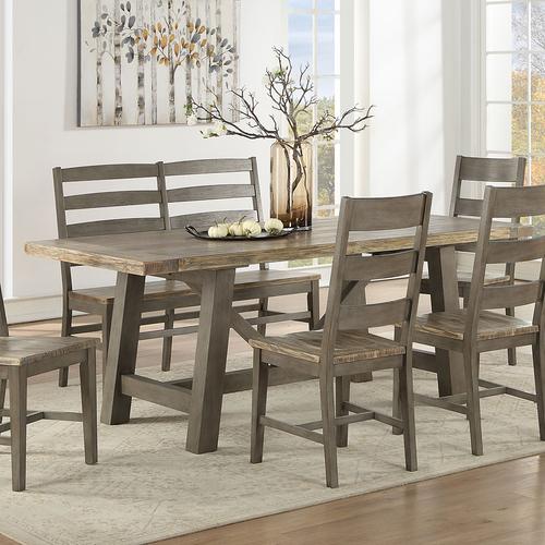 ECI Pine Crest Rectangular Trestle Dining Table