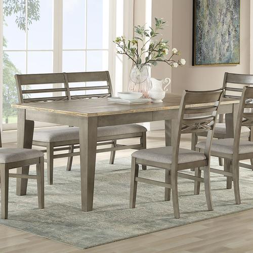 ECI Pine Crest Rectangular Leg Dining Table