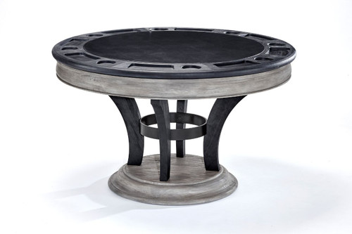 Brunswick Centennial Game Table Black Wire Brush/Rustic Grey/Black Wire Brush/Rustic Grey