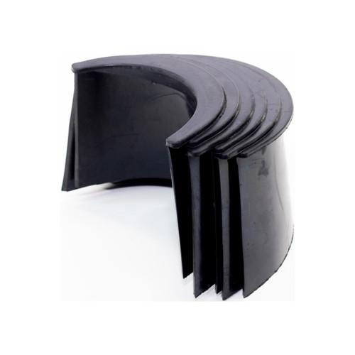 Imperial 4-Inch Black Rubber Pocket Liner, Set of 6