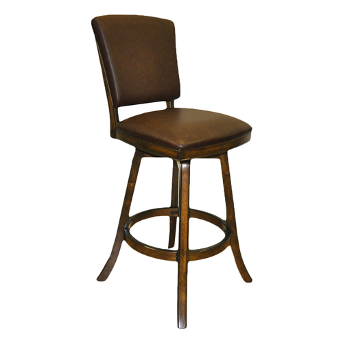 "Imperial 30"" Bar Stool with Back Antique Walnut"