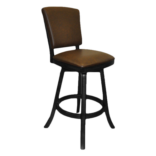 "Imperial 30"" Bar Stool with Back Black"