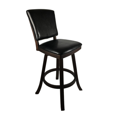 "Imperial 30"" Bar Stool with Back Weathered Dark Chestnut"