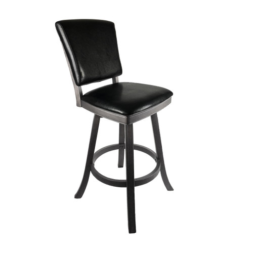"Imperial 30"" Bar Stool with Back Silver Mist"