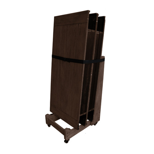 Imperial Dining/Conversion Top Accessory Dolly - Weathered Dark Chestnut