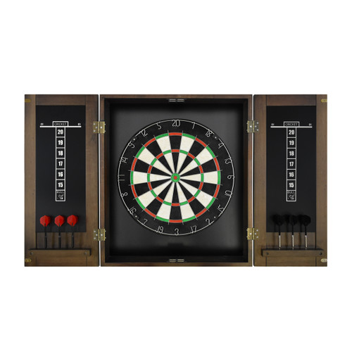 Imperial Dart Board & Cabinet Set - Whiskey Finish