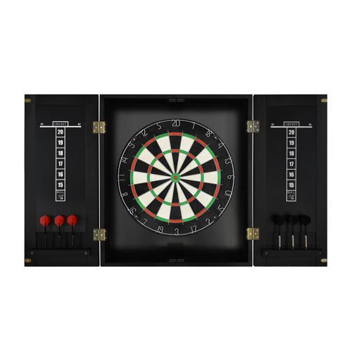 Imperial Dart Board & Cabinet Set - Black Finish