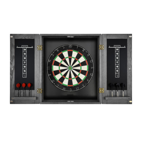 Imperial Dart Board & Cabinet Set - Silver Mist Finish