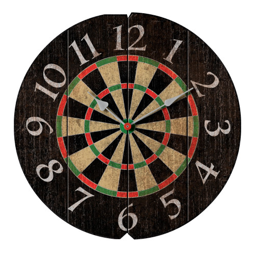 Imperial Vintage Darts Round Clock