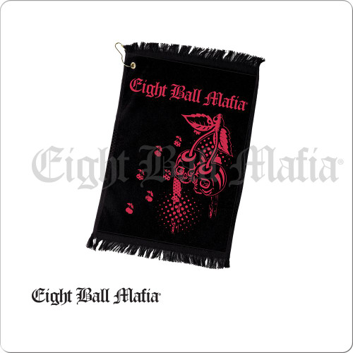 Eight Ball Mafia Cherry Skulls Towel