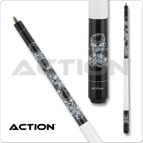 Action Adventure ADV62 Stacked Skulls Pool Cue