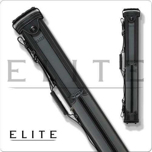 Elite ECV22 2x2 Vintage Black/Grey Leather Cue Case