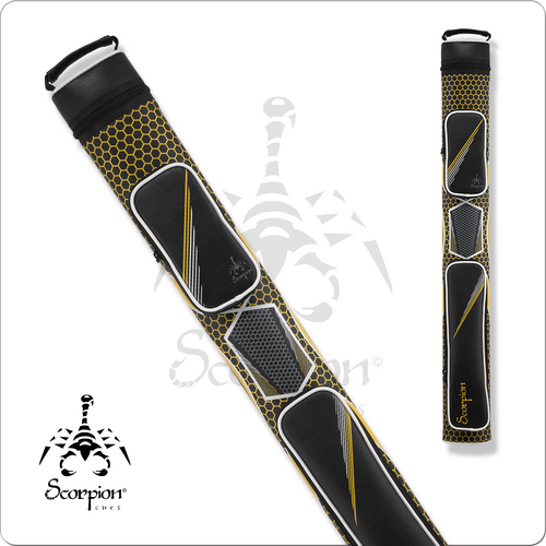 Scorpion SC22X 2x2 Yellow Hard Cue Case