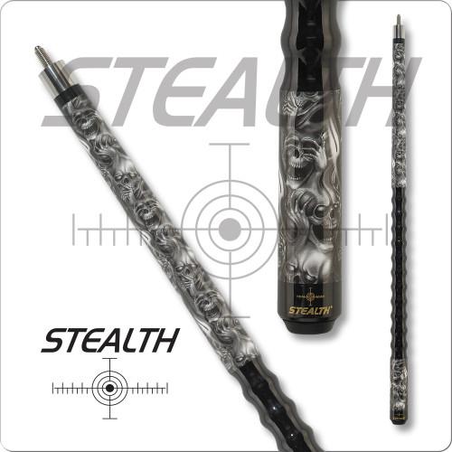 Stealth DEF-101 Multi-Faced Skull Pool Cue