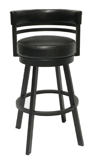 "Callee Ambridge 26"" Bar Stool in Matte Black with Ford Black Upholstery"
