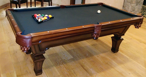 Olhausen Hampton Pool Table Heritage Mahogany Finish