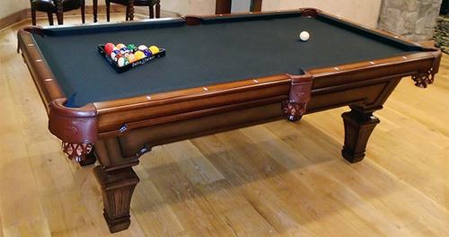 Olhausen Hampton Pool Table Heritage Mahogany Finish