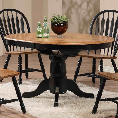 ECI Four Seasons Lancaster Dining Table Black with Rustic